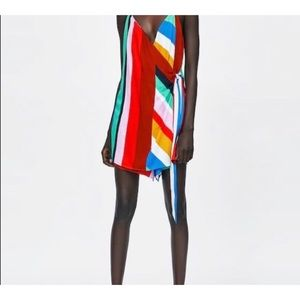 NWT Zara Colorful Striped Romper